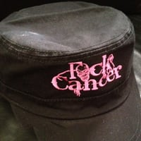 FCK Cancer Black Military Hat
