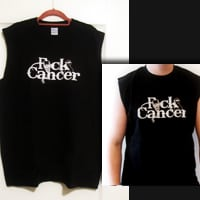 FCK Cancer Mens Sleeveless Black