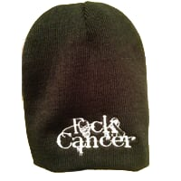 FCK Cancer Toque - Black/White