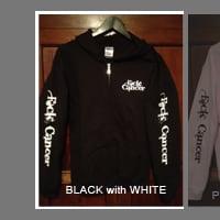 FCK Cancer Hoodie - Black/White
