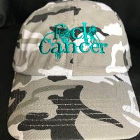 FCK Cancer Hat - Teal/Gry Camo