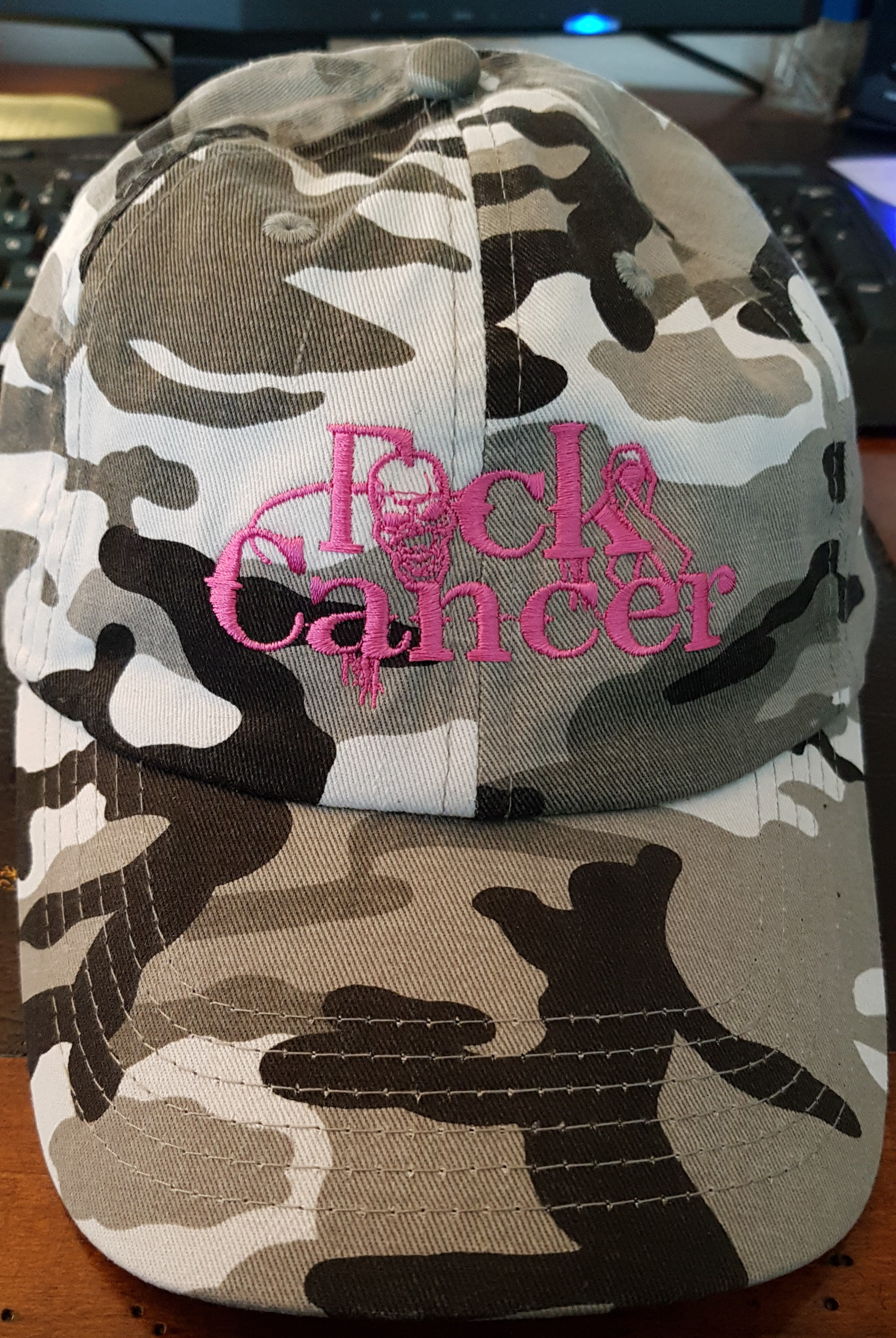 FCK Cancer Hat - Pink/Gry Camo