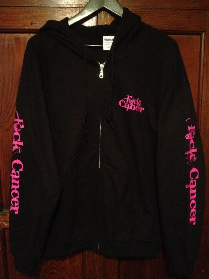 FCK Cancer Hoodie - Black/Pink